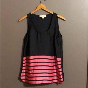 Michael Kors striped tank top Blouse pink navy M